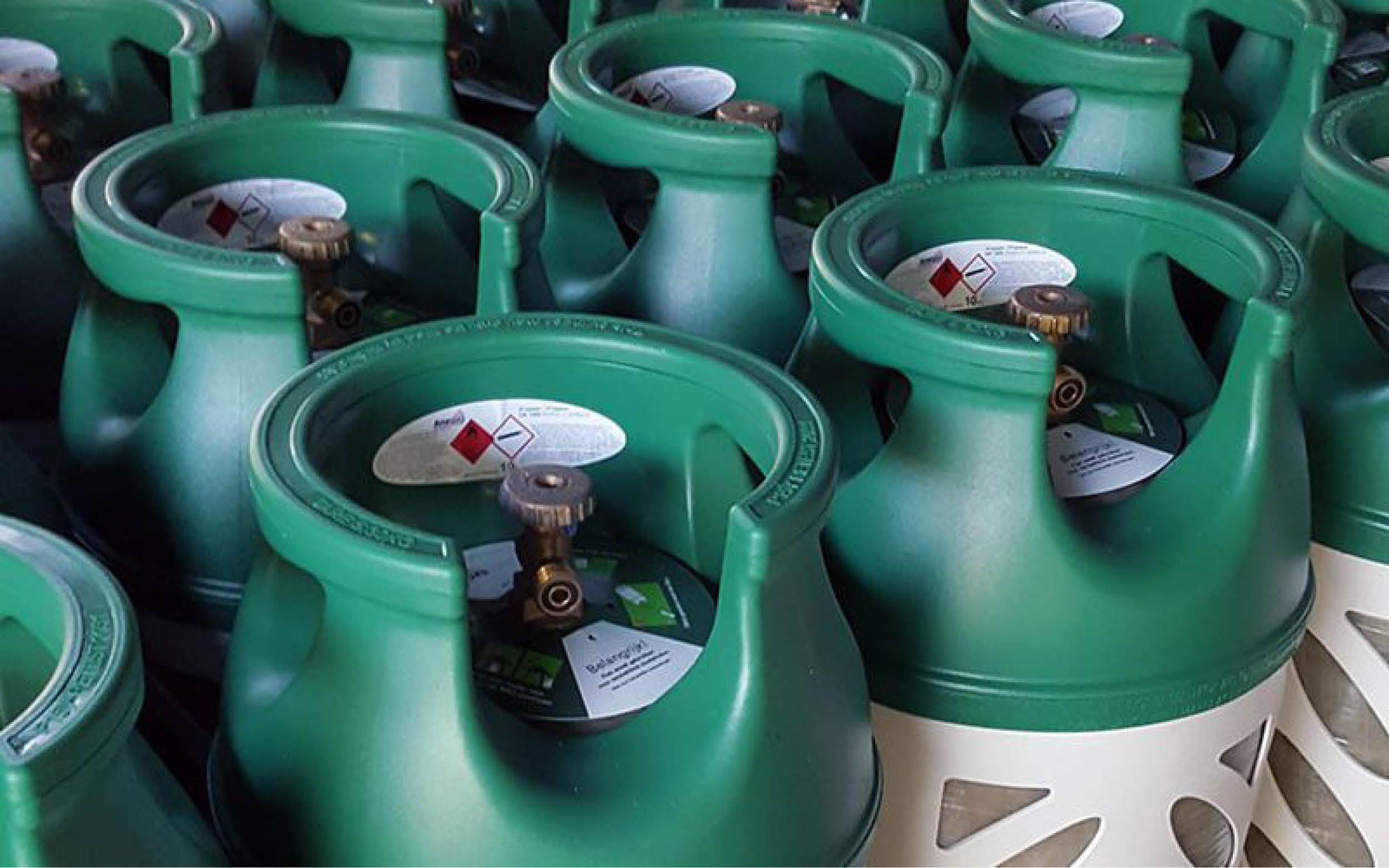 Lager aanbod gasflessen