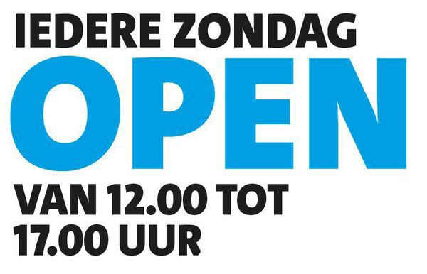 iedere zondag open