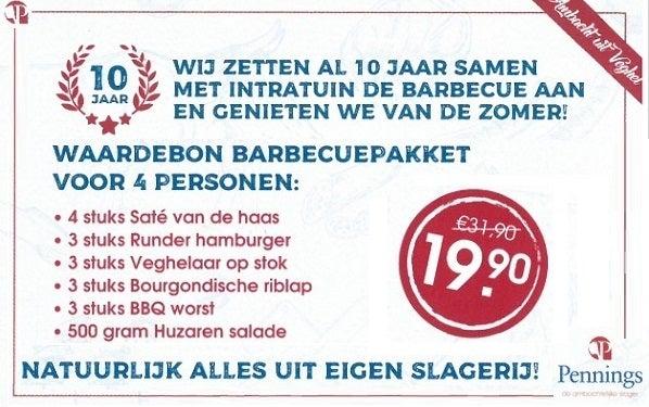 Grote korting op barbecuepakket van Slagerij Pennings*