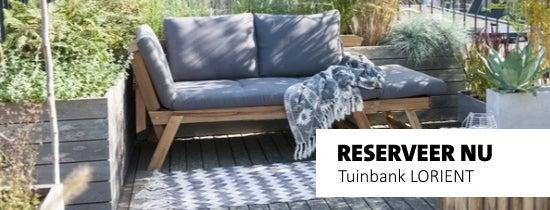Reserveer nu tuinbank LORIENT