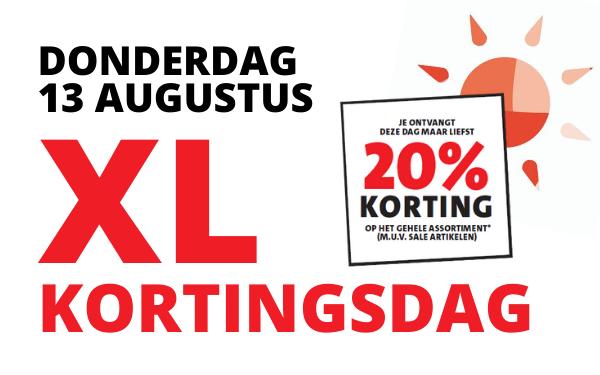 XL KORTINGSDAG